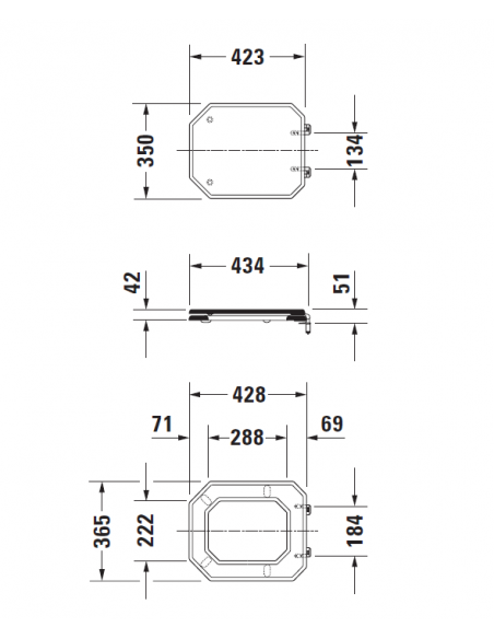 abattant wc s rie 1930 duravit. Black Bedroom Furniture Sets. Home Design Ideas