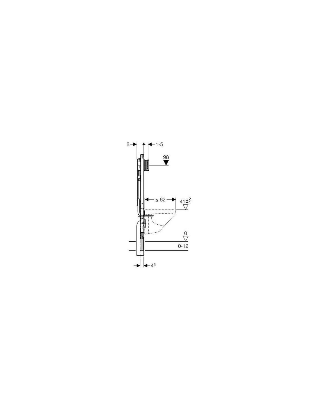 b ti support duofix plus up720 extra plat geberit. Black Bedroom Furniture Sets. Home Design Ideas