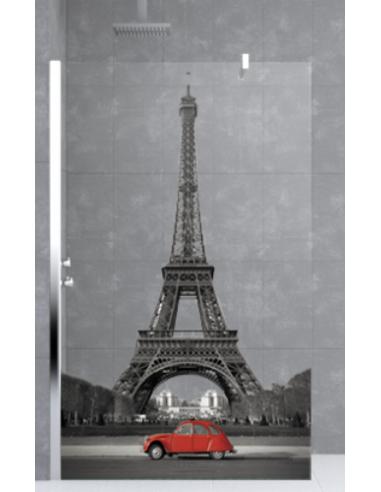 De Décors Art Eiffel Tour H In Novellini Paroi Douche Kuadra JcT3FlK1