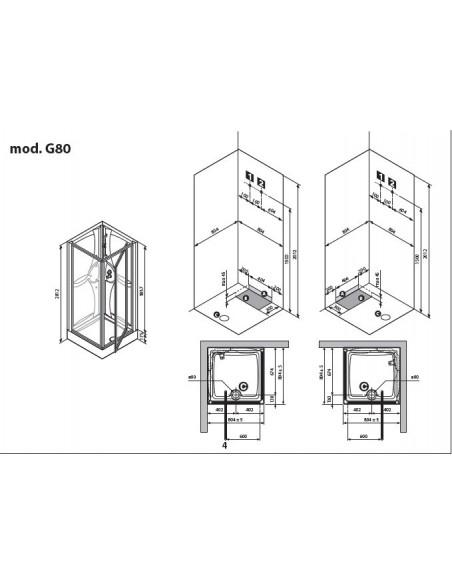 Cabine de douche media gf80 novellini - Cabine de douche novellini ...