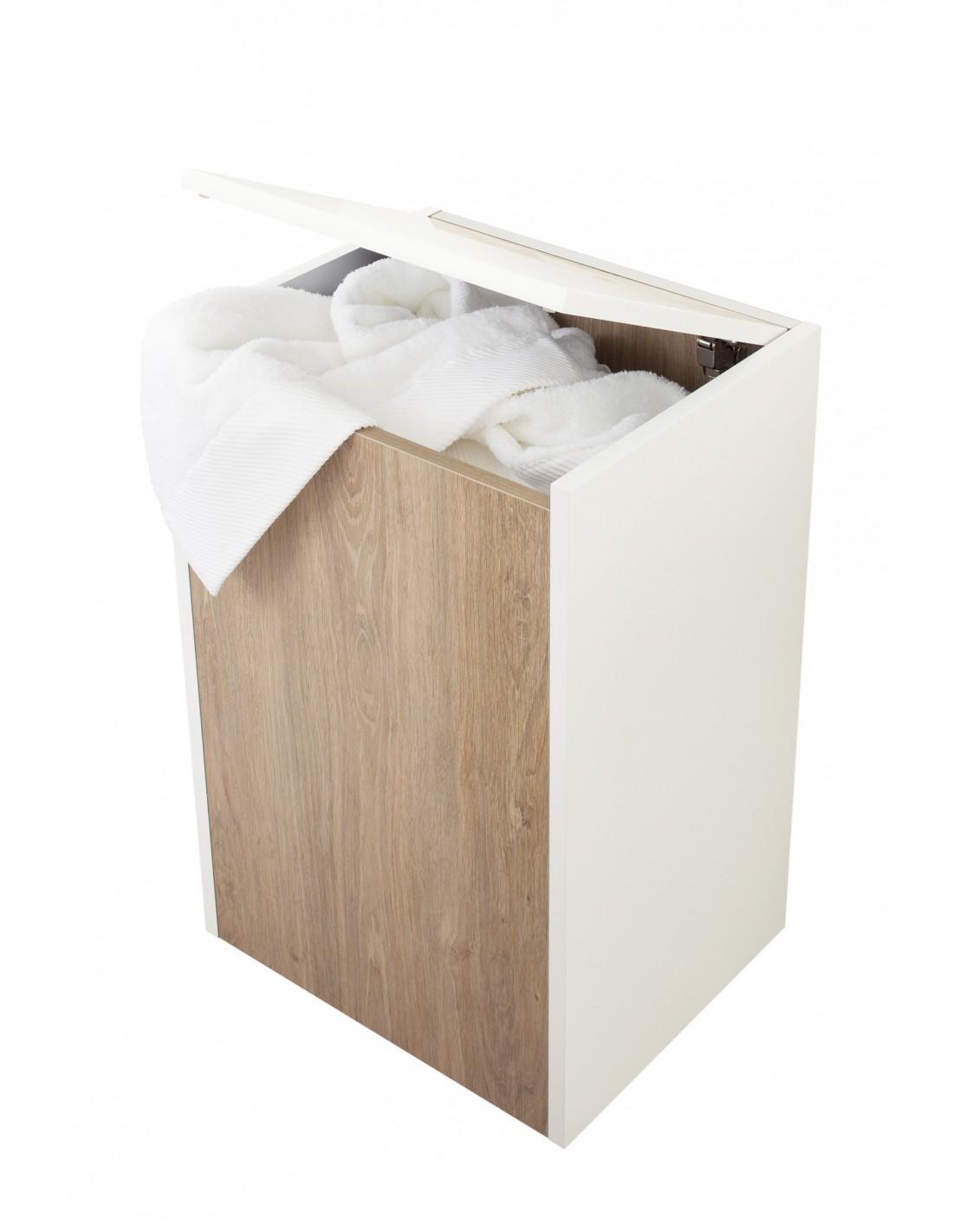 panier linge sur roulettes tout laqu my lodge sanijura. Black Bedroom Furniture Sets. Home Design Ideas