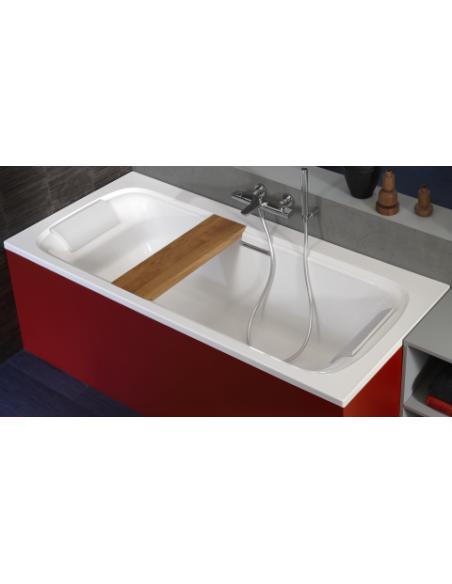 si ge banc en ch ne massif pour baignoire elite jacob delafon. Black Bedroom Furniture Sets. Home Design Ideas