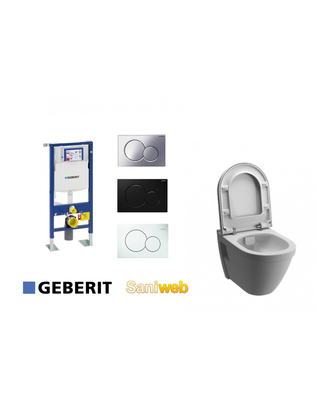 pack wc suspendu 3 pi ces g b rit cuvette clean max sans. Black Bedroom Furniture Sets. Home Design Ideas