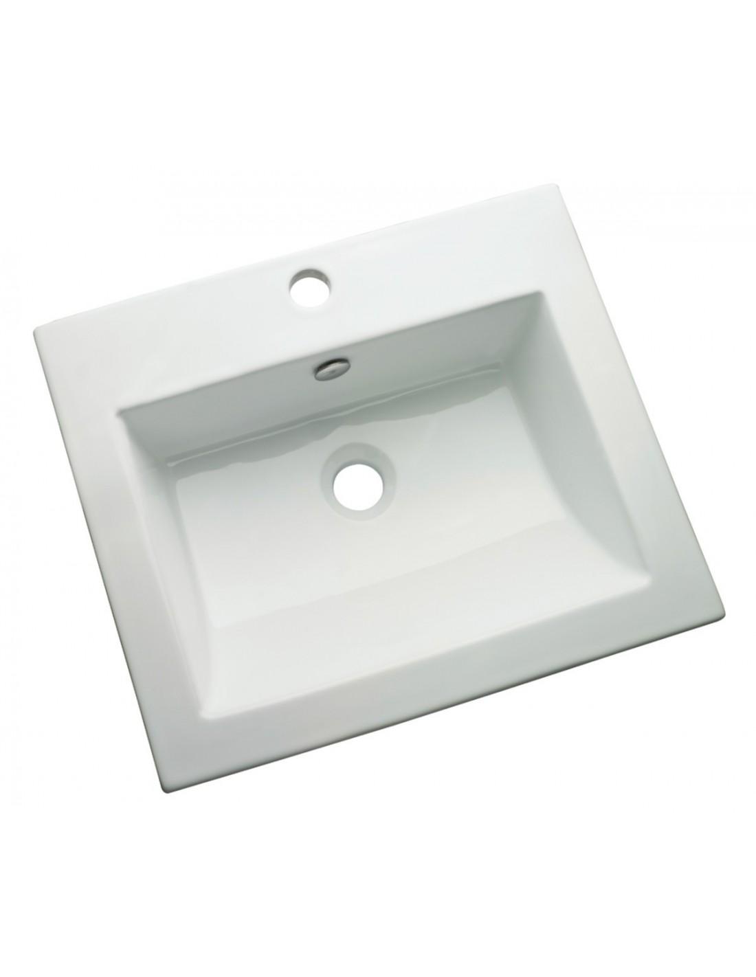 vasque encastrer rectangulaire mantera alterna. Black Bedroom Furniture Sets. Home Design Ideas