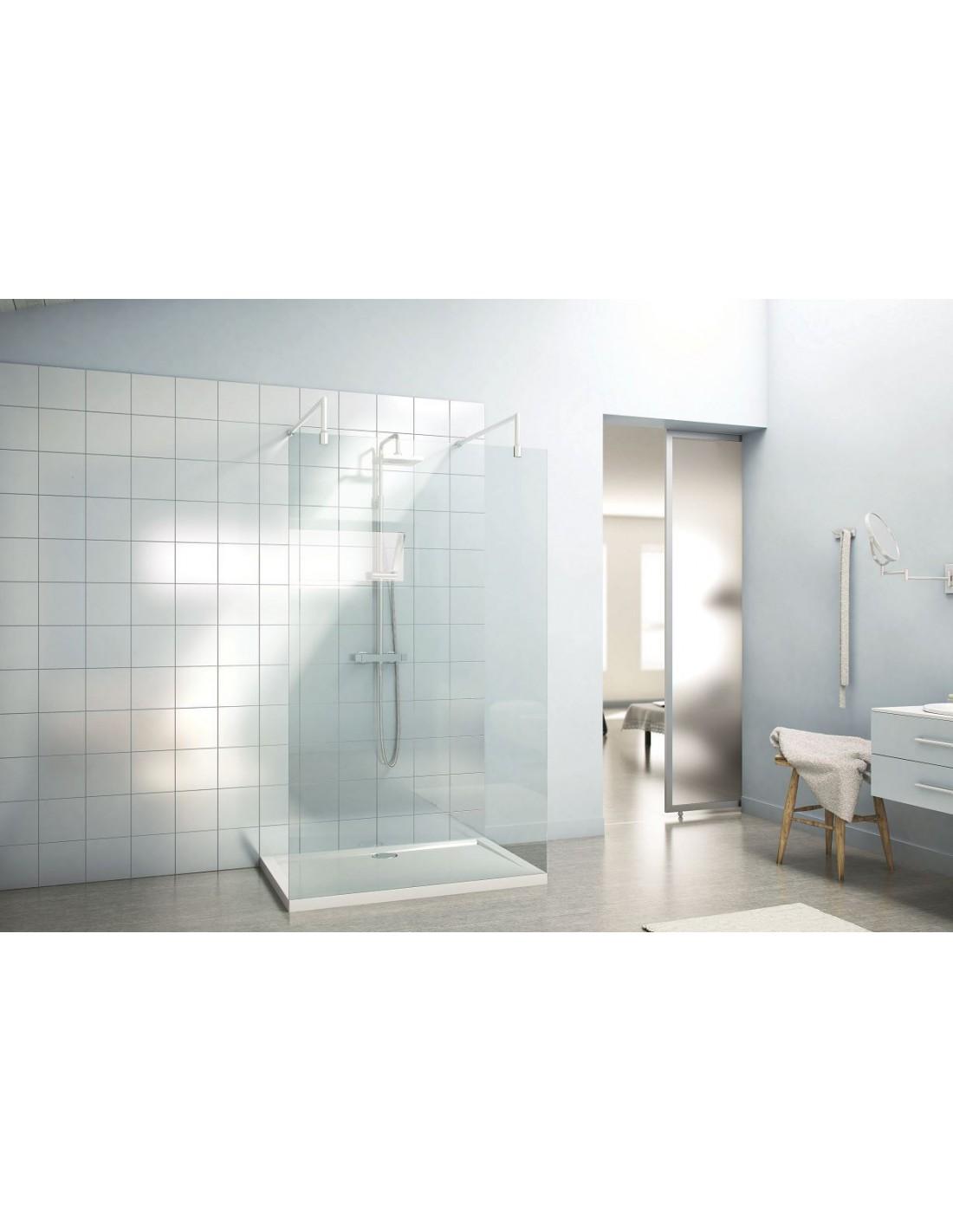 paroi de douche fixe double entree quetzal saniweb. Black Bedroom Furniture Sets. Home Design Ideas