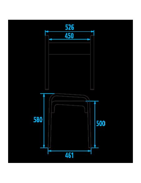 tabouret de douche assise blanche arsis pellet. Black Bedroom Furniture Sets. Home Design Ideas