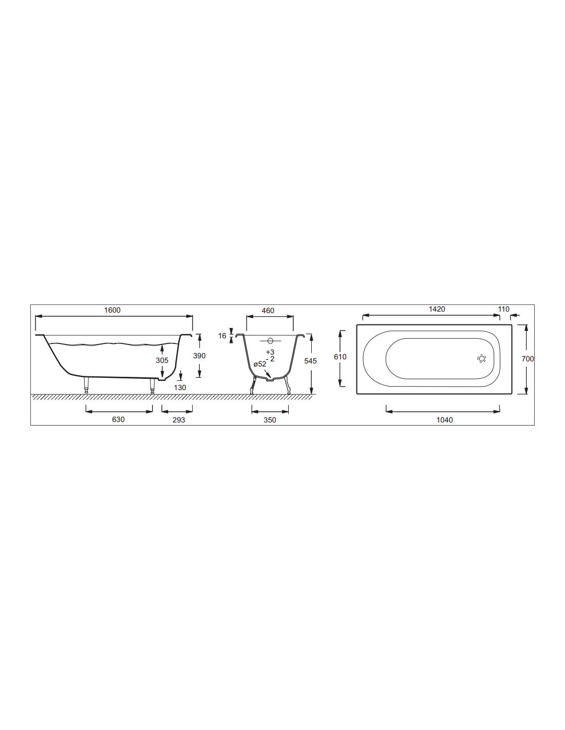 baignoire en fonte encastrer soissons jacob delafon. Black Bedroom Furniture Sets. Home Design Ideas