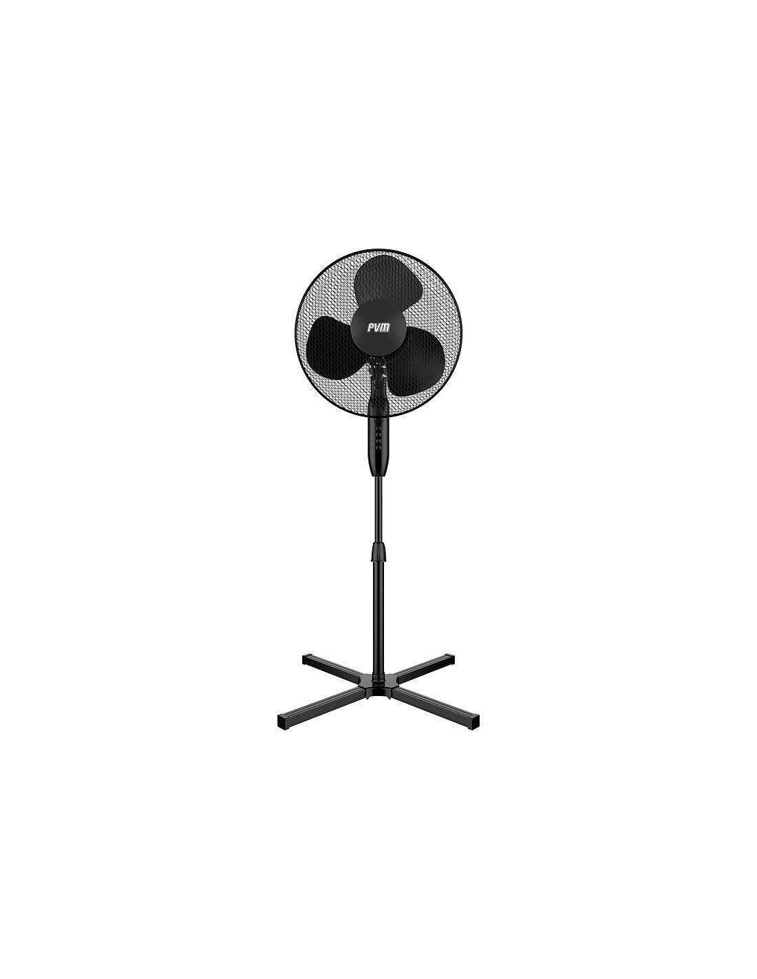 ventilateur sur pied 40cm pvm. Black Bedroom Furniture Sets. Home Design Ideas